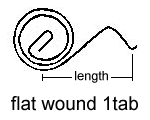 Flat Wound 1 Tab Spring Drawing
