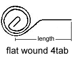 Flat Wound                 4Tab Spring Drawing