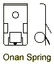Onan Spring Assembly drawing