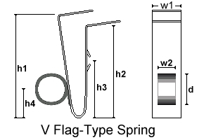 V flag                             type spring with dimensions drawing